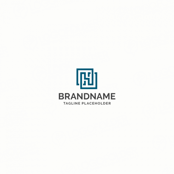 Letter h logo design